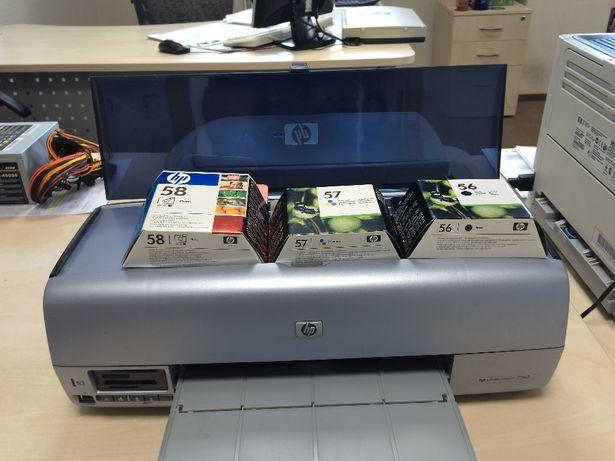 Принтер HP Photosmart 7260 + комплект картриджей для него