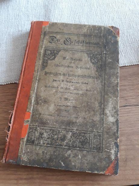 1896r Der Geschaftsmann (Biznesmen) - J. Wewer. Stara książka