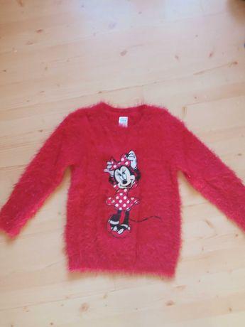 Ciepły sweterek z Myszką Minnie na 116 cm