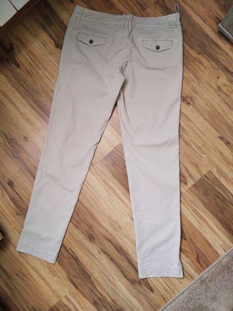 Spodnie beżowe chinosy cygaretki L 40/42