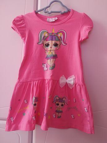 Sukienka letnia dla dziewczynki rozmiar 104
