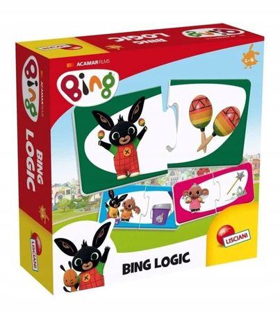 BING Gra Logiczna, Puzzle z Bingiem Zabawka Logic