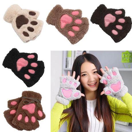 Перчатки лапки, варежки, рукавицы, перчатки, подарок, лапы,
