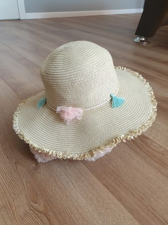 R. 122/128, h&m, kapelusz słomkowy na lato, czapka