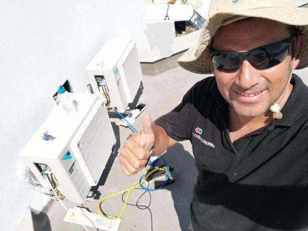 Instalação, manutenção e reparação de ar condicionado e frigorífico