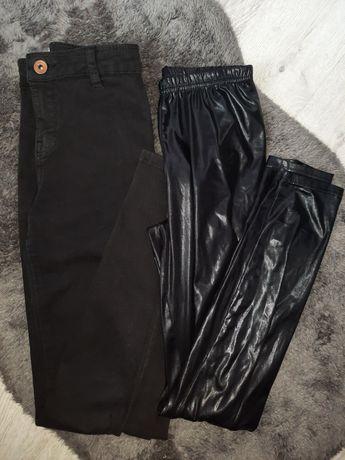 komplet 2pary spodni Bershka skinny lateks 34 36