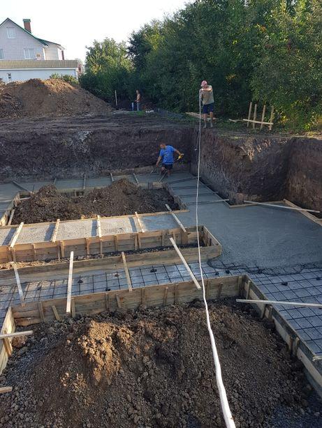 Фундамент, ступеньки, бетонные работы любой сложности в Виннице