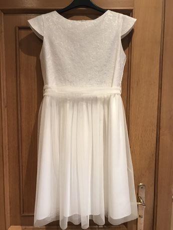 Piękna sukienka dla dziewczynki r. 158 z nitka Swarowskiego