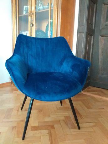 Tapicerowane krzesła do jadalni 2xgranat i 2xciemnozielony