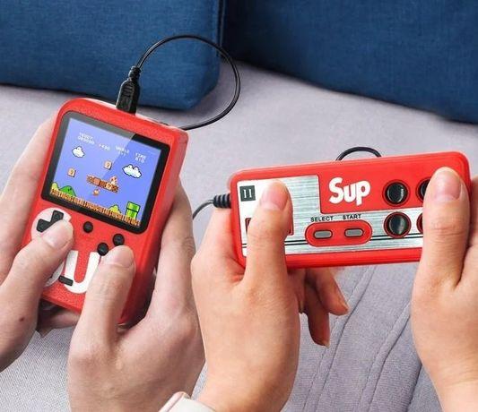 Игровая приставка Sup + джойстик Retro Dendy 400 игр портативная 3дюйм