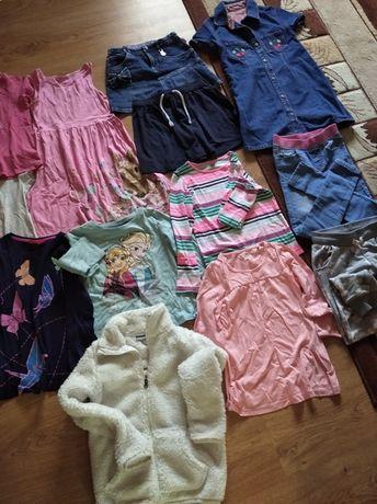 Paka ubrań dla dziewczynki 122/128
