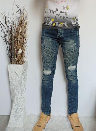 Modne świetne dżinsy rurki elastyczne