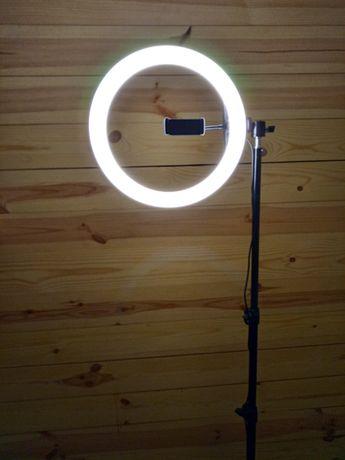 Кольцевой свет лампа Led блоггера тикток + Подарок + Большой штатив
