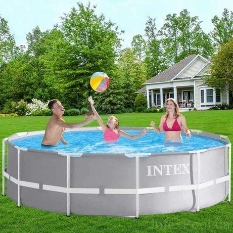 Каркасний басейн Intex 366х99,Бассейн,Каркасный,Детский басейн,АКЦІЯ