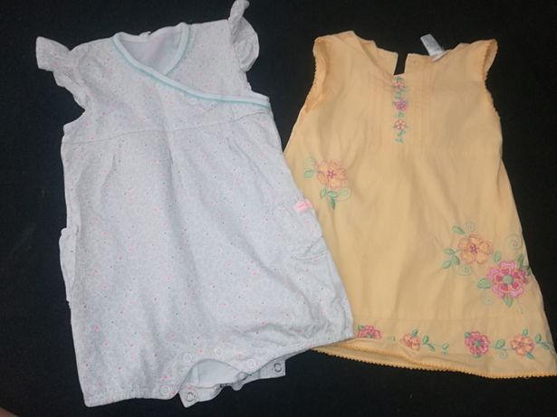 Zestaw dla dziewczynki 80 sukienka rampers Cool Club