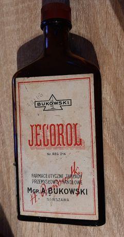 Przedwojenna butelka Jecorol Bukowski Warszawa