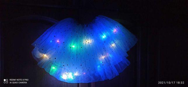 Юбка, пачка, светится + балетки в подарок.
