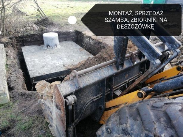 Szambo Szamba zbiornik deszczówkę beton plastikowy Wykop Montaż drenaż