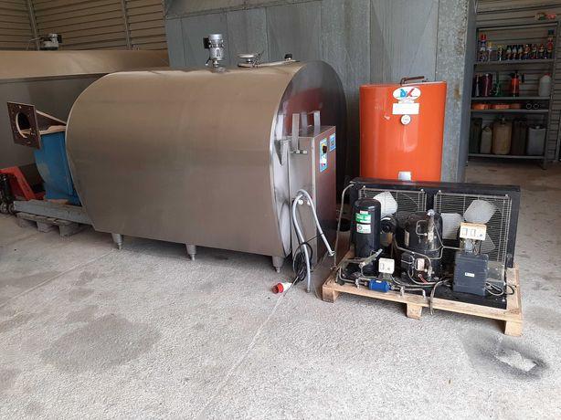 Schładzalnik do mleka zbiornik 2800l wymiennik ciepła agregat myjnia