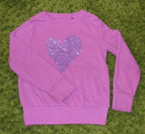 Bluza z sercem Next 5 lat 110 cm