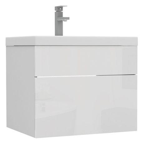 Biała wisząca szafka łazienkowa pod umywalkę 60 cm!