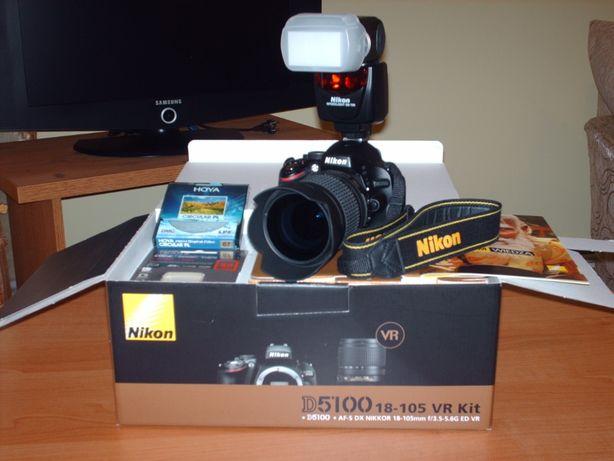 Zestaw FOTO, Nikon D5100, lampa Nikon SB 700, Torba Foto