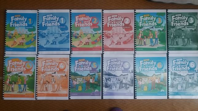 Family and Friends 2nd уровни Starter, 1,2,3,4,5,6