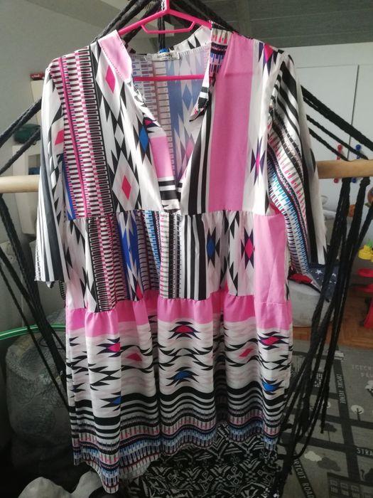 Sukienka damska oversize lato luźny krój rozmiar 40 Sadowne - image 1