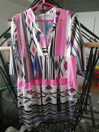 Sukienka damska oversize lato luźny krój rozmiar 40