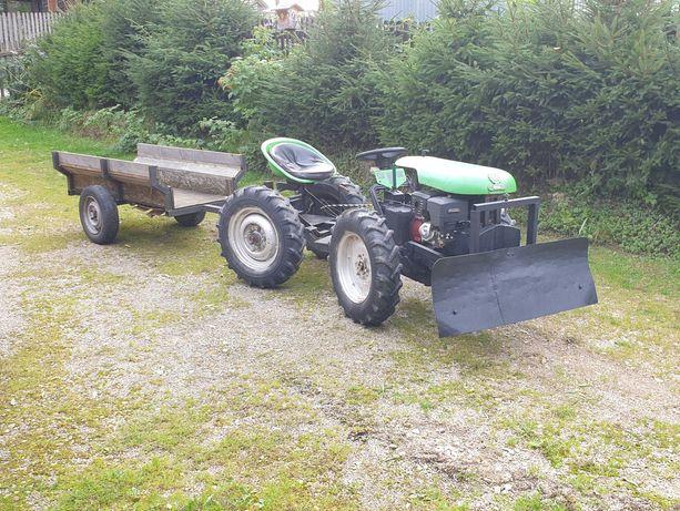 Traktorek ogrodniczy sam dzik-2, jak TZK łamany + spych i przyczepa