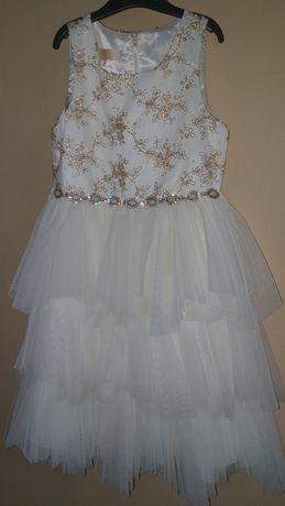 Продам или сдам в аренду шикарное нарядное платье с Польши 142 рост