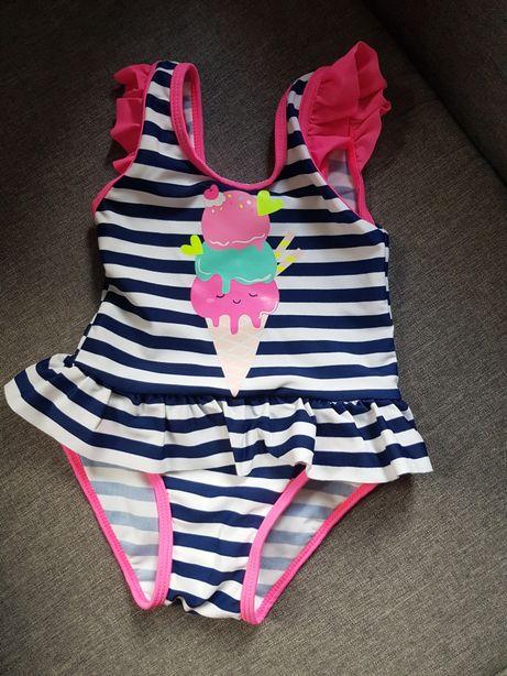 Nowy śliczny strój kąpielowy z falbankami HM 68/ 74
