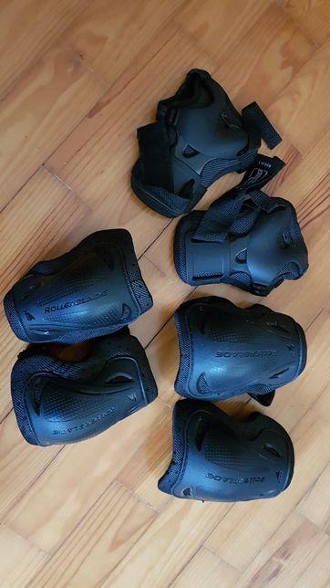 Conjunto proteções patins