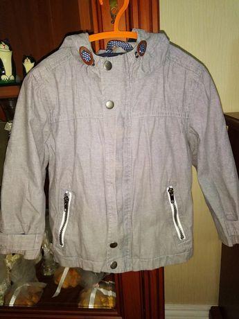 Стильная куртка ветровка на мальчика 2-4 года