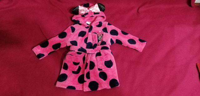 Махровый халат Disney minnie Mouse 9-12 месяцев