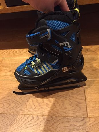 nowe łyżwy oxelo fit 500 jr junior, decathlon, 29-32