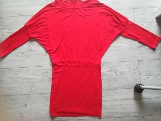 Tunika sukienka czerwona