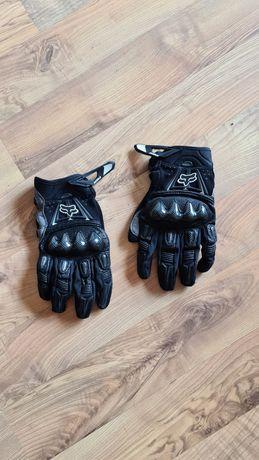 Rękawiczki FOX Bomber Carbon. Czarne. Cross Enduro ATV Quad.