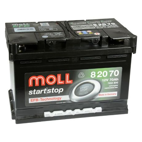 Akumulator Moll start | stop EFB 70Ah 760A