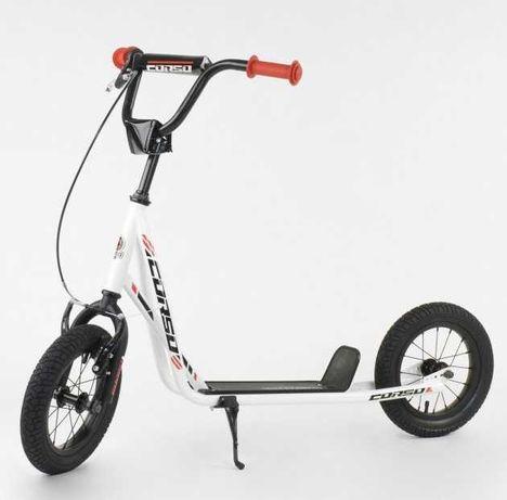 Металлическая рама - колеса надувные, от 3-х лет детский самокат