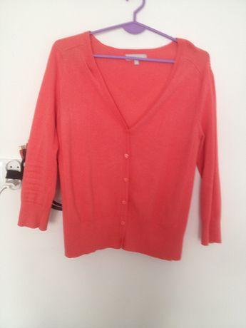 Sweter r 42 (14) kolor Koralowy Damski Rozpinany Wiosna Lato