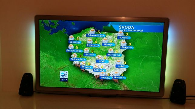 "Telewizor Philips 46"" seria 7, Full HD + Ambilight ! -Stan idealny-"