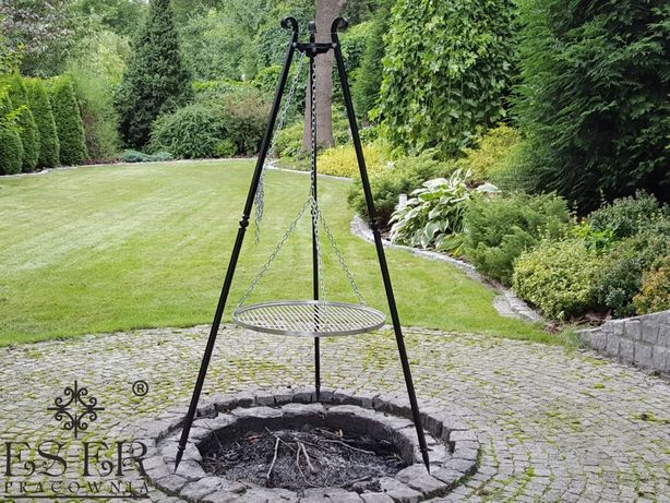 Grill ogrodowy - ogniskowy Olaf z rusztem nierdzewnym 60cm ES-ER