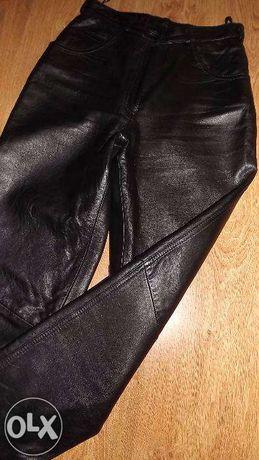 Spodnie skórzane damskie