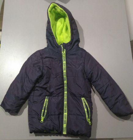 Kurtka zimowa dla chłopca, ciepła, polar r. 110