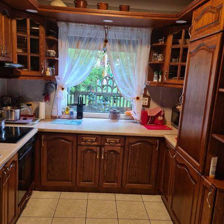 Sprzedam meble kuchenne z drewnianymi frontami wraz ze sprzętem agd