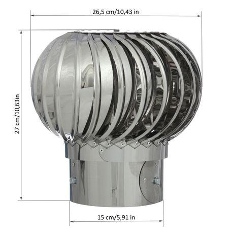 Турбодефлектор 150 эконом из нержавеющей стали