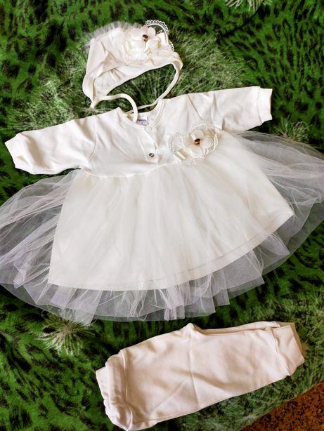 Комплект нарядное платье / крестины