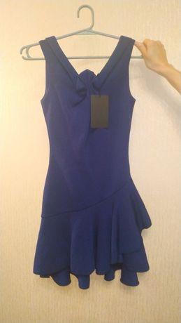Платье синее новое, с биркой