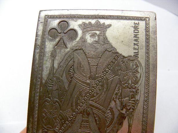 карты игральные шкатулка подарок посеребренная винтаж